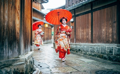 Getty Images 538589734 Japan Kyoto geisha meiko